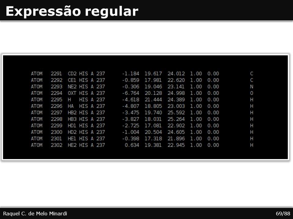 Expressão regular Raquel C. de Melo Minardi69/88