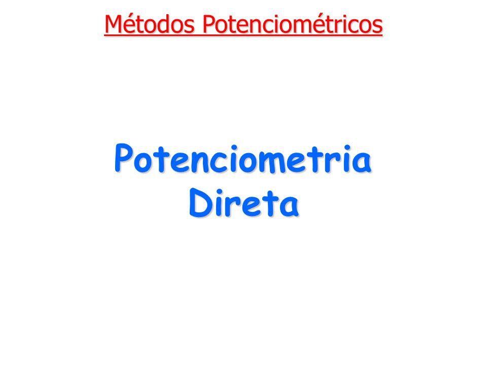 Potenciometria Direta Métodos Potenciométricos