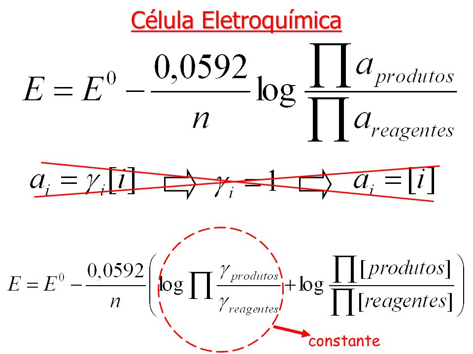 Célula Eletroquímica constante