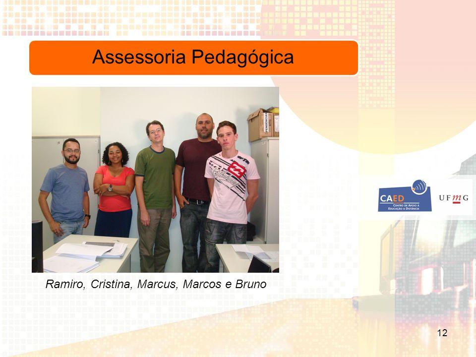 Assessoria Pedagógica Ramiro, Cristina, Marcus, Marcos e Bruno 12