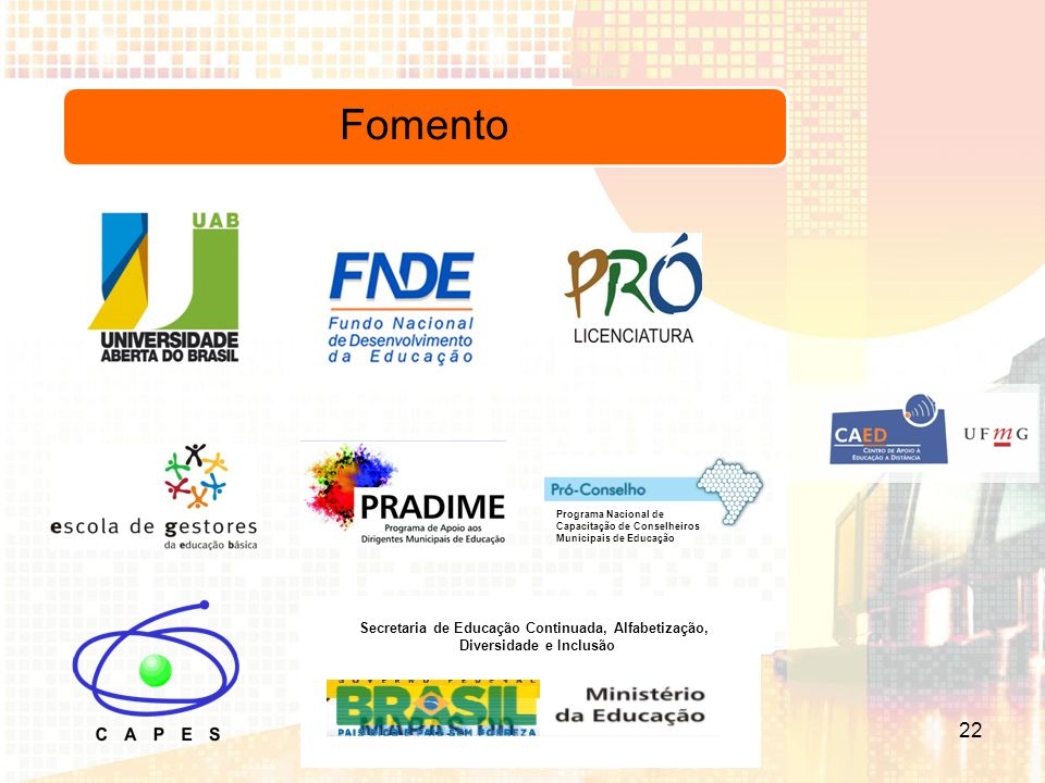 Contatos (31) 3409-4638 www.ufmg.br/ead educacaoadistancia@ufmg.br 23