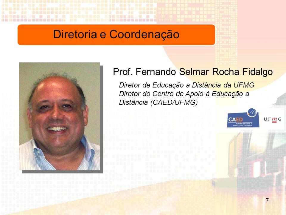 Diretoria e Coordenação Diretor de Educação a Distância da UFMG Diretor do Centro de Apoio à Educação a Distância (CAED/UFMG) Prof.