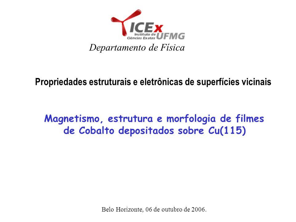 Magnetismo, estrutura e morfologia de filmes de Cobalto depositados sobre Cu(115) Propriedades estruturais e eletrônicas de superfícies vicinais Depar