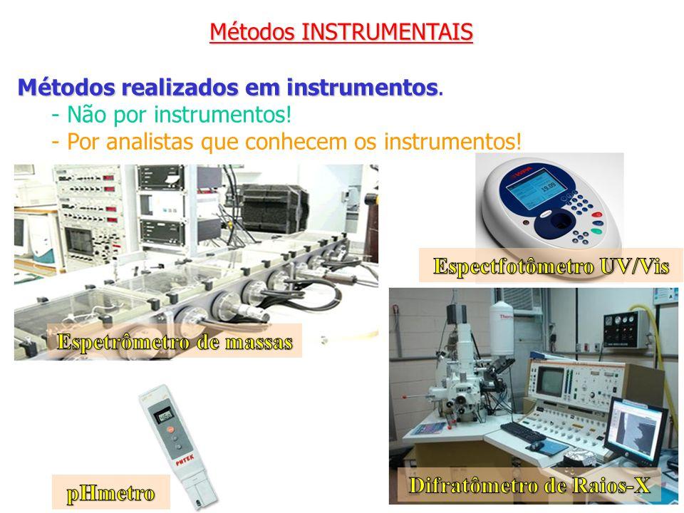 Métodos INSTRUMENTAIS Métodos realizados em instrumentos Métodos realizados em instrumentos. - Não por instrumentos! - Por analistas que conhecem os i