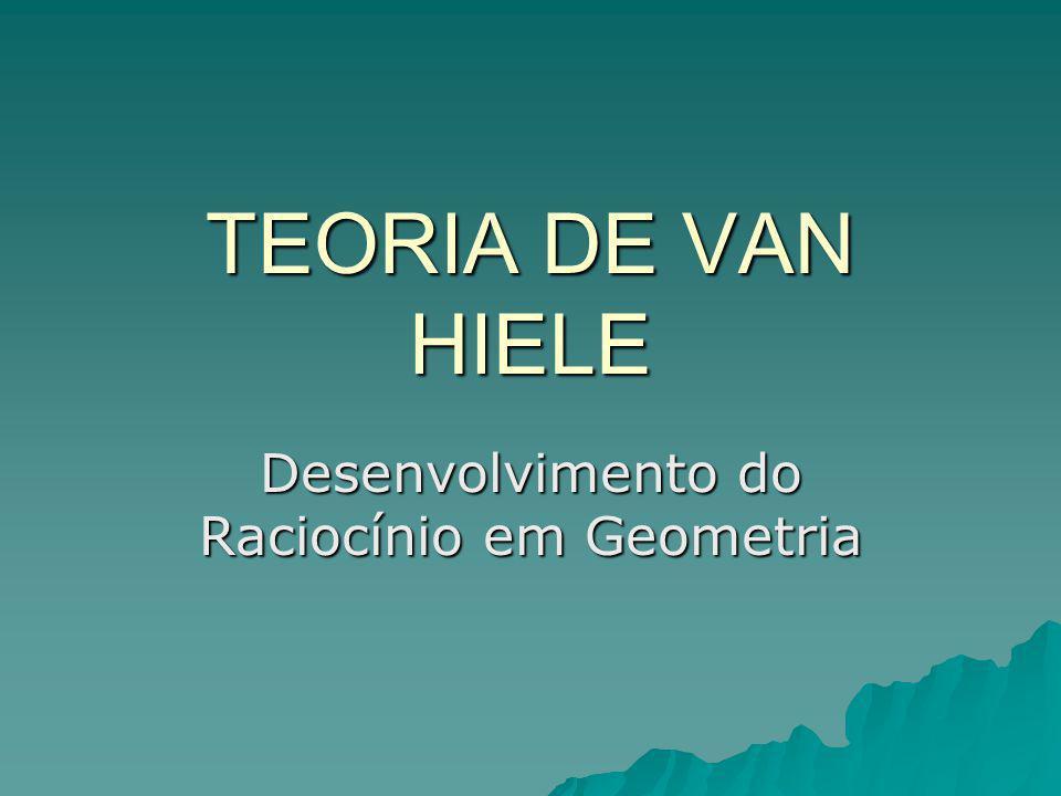 TEORIA DE VAN HIELE Desenvolvimento do Raciocínio em Geometria