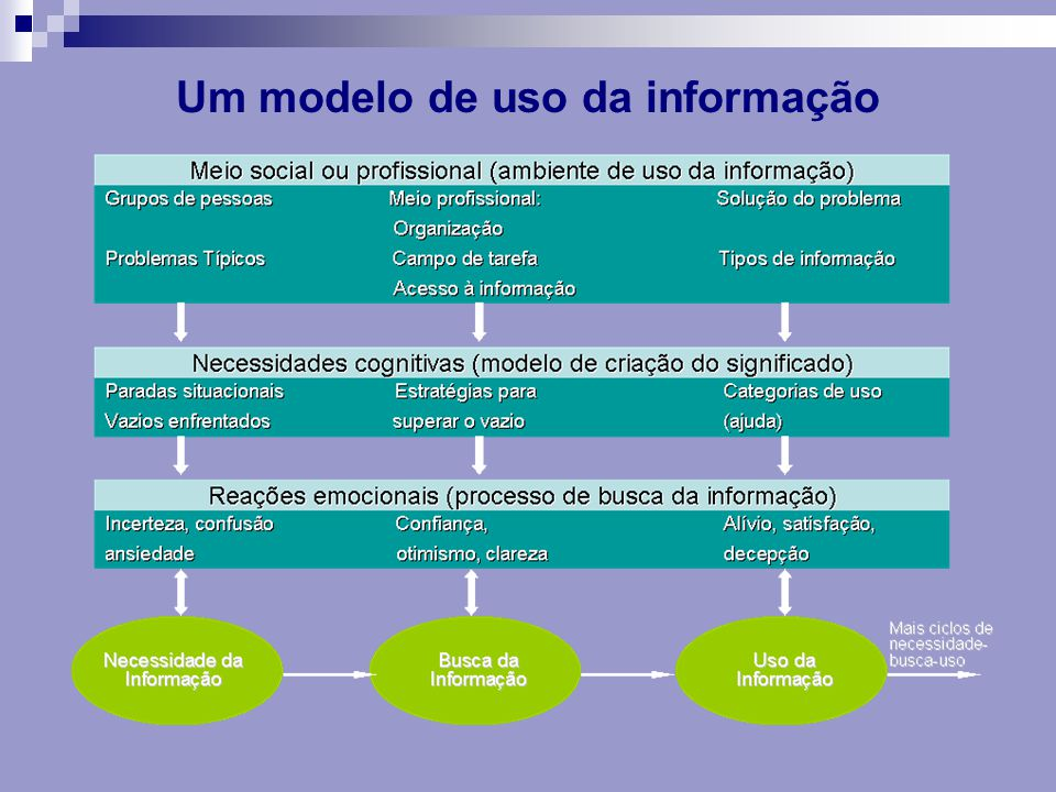 Um modelo de uso da informação