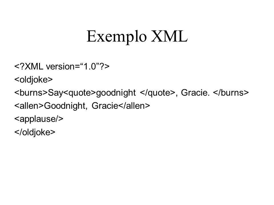 Exemplo XML Say goodnight, Gracie. Goodnight, Gracie