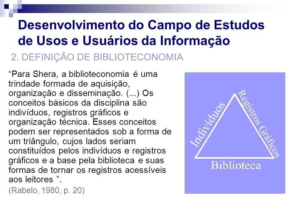 Já Nitecki define a biblioteconomia a partir da hipótese que relaciona os termos livros (b), usuário (u), conhecimento (k).