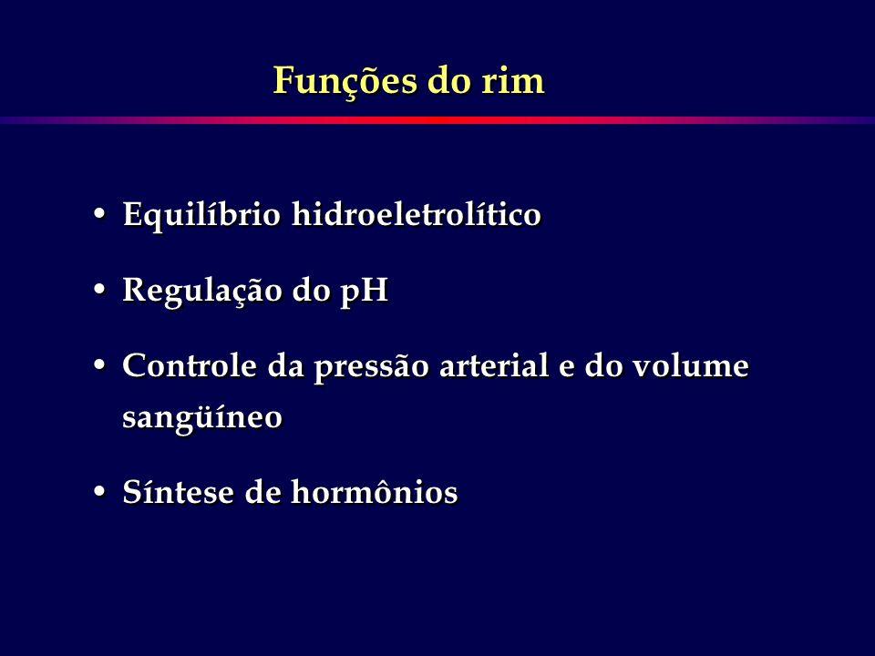 F Três processos básicos determinam a composição e o volume da urina: 1.