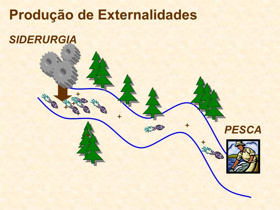 Produção de Externalidades SIDERURGIA PESCA