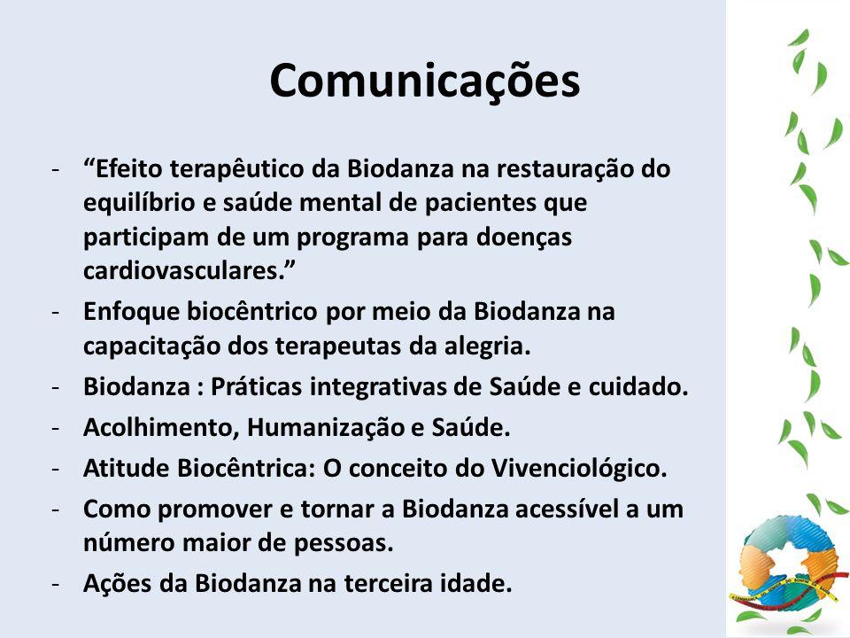 Comunicações -Efeito terapêutico da Biodanza na restauração do equilíbrio e saúde mental de pacientes que participam de um programa para doenças cardi