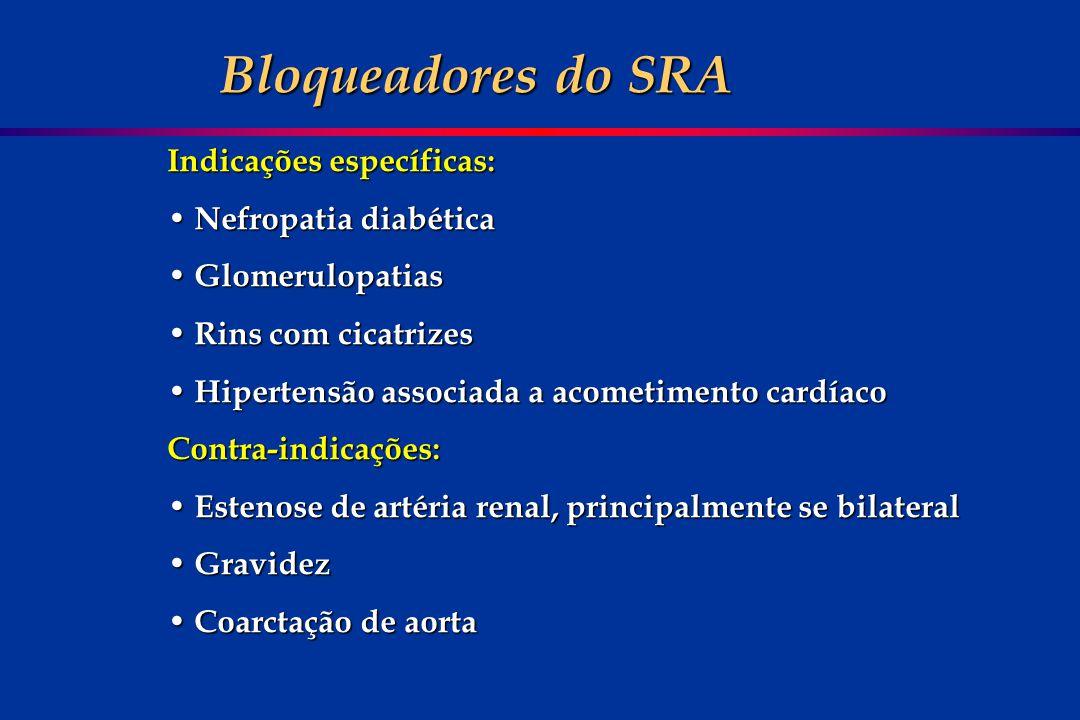 Indicações específicas: Nefropatia diabética Nefropatia diabética Glomerulopatias Glomerulopatias Rins com cicatrizes Rins com cicatrizes Hipertensão