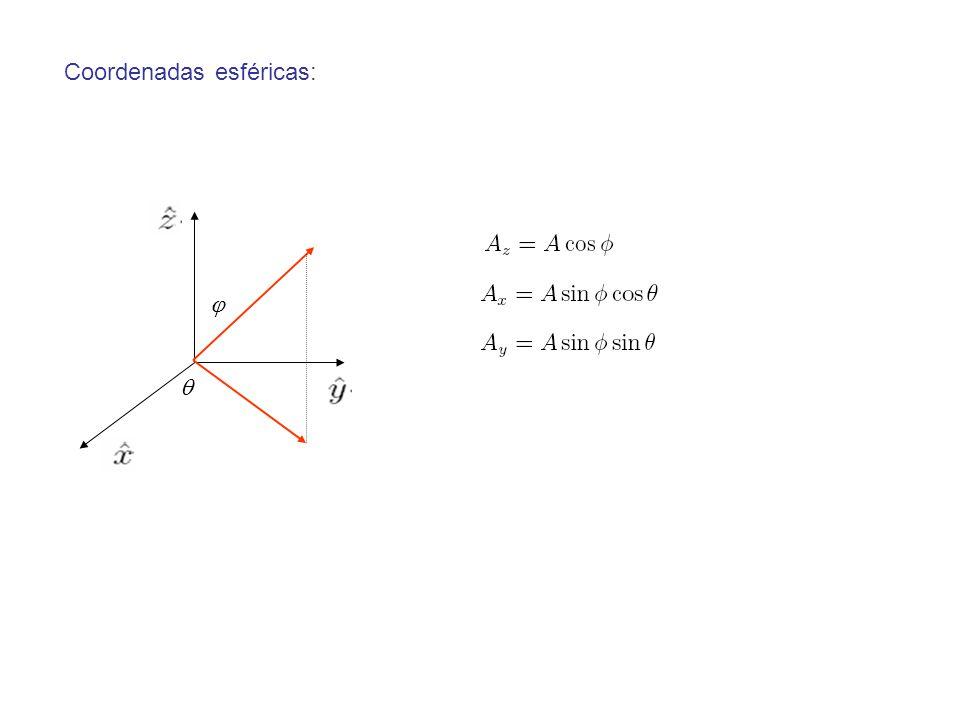 Coordenadas esféricas: