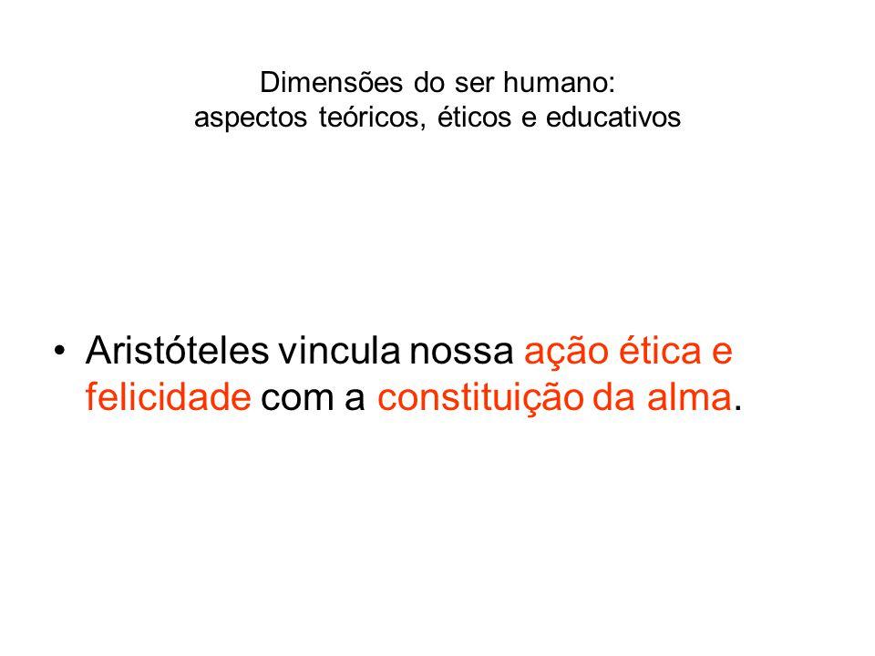 Aristóteles vincula nossa ação ética e felicidade com a constituição da alma.