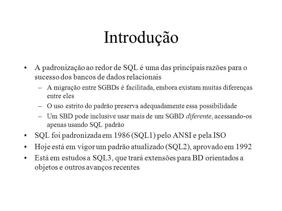 Q4 (operações de conjuntos) Listar os números de projetos nos quais esteja envolvido o empregado João da Silva como empregado ou como gerente responsável pelo departamento que controla o projeto.