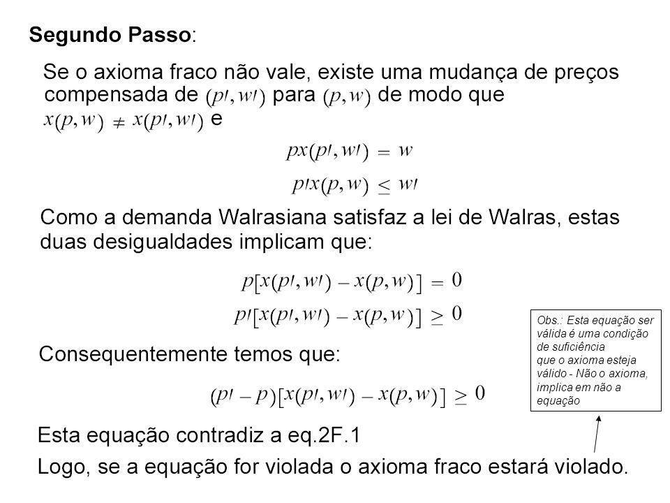 55 Obs.: Esta equação ser válida é uma condição de suficiência que o axioma esteja válido - Não o axioma, implica em não a equação