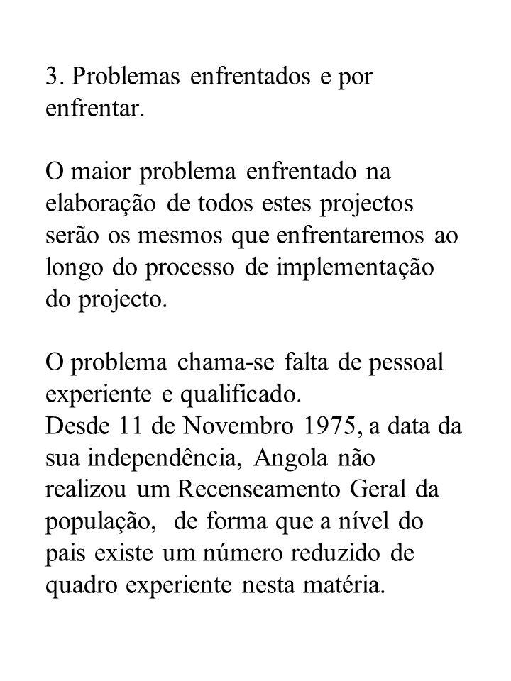 3. Problemas enfrentados e por enfrentar.