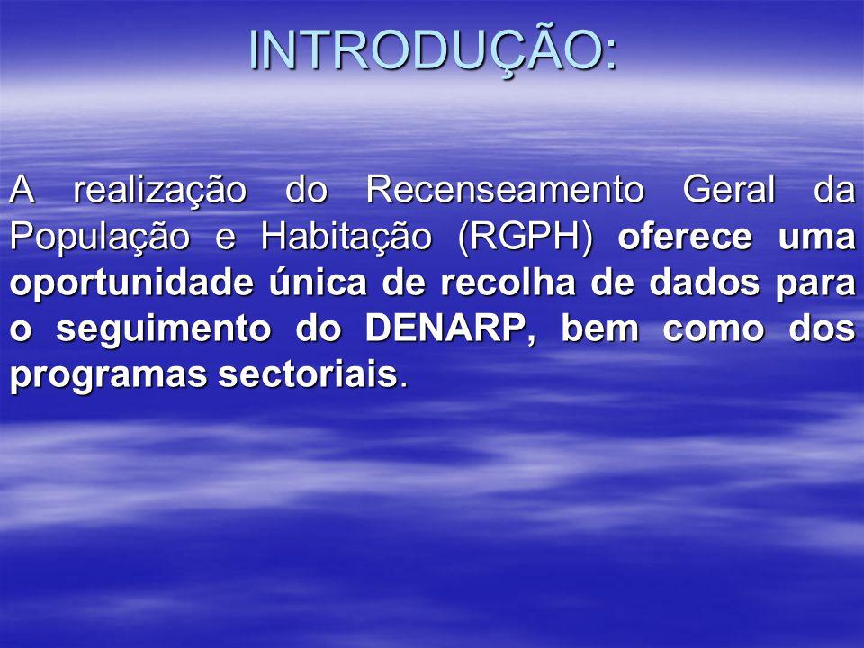Suportes de Divulgação Documentos em suporte electrónico h) Principais resultados do RGPH; i) CD-ROM interactivo apresentando a metodologia e os resultados do RGPH; j) Site Web dos dados do RGPH e doutros recenseamentos e inquéritos realizados no país.