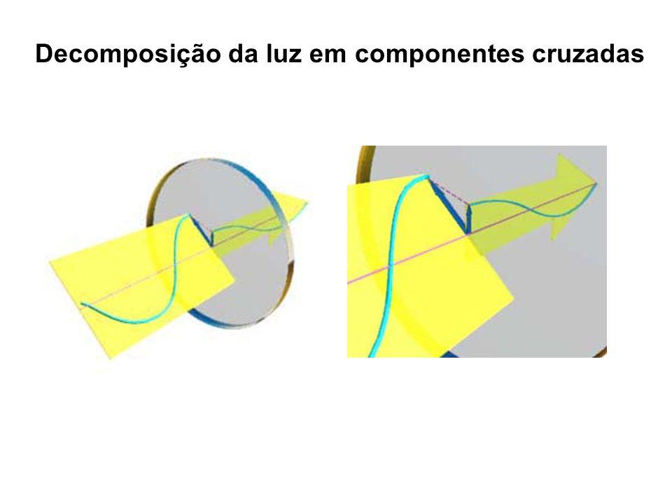 Decomposição da luz em componentes cruzadas