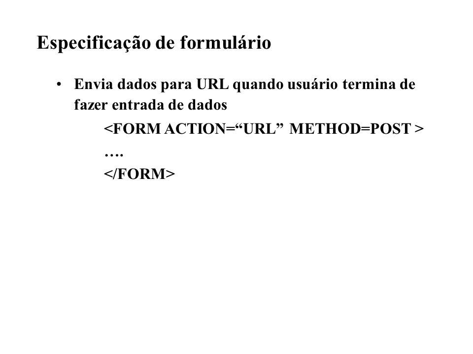 Especificação de formulário Envia dados para URL quando usuário termina de fazer entrada de dados ….