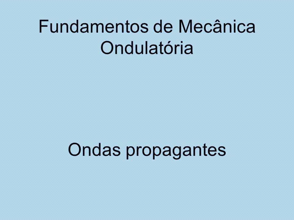 Fundamentos de Mecânica Ondulatória Ondas propagantes