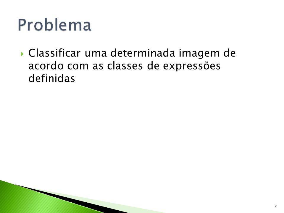 Classificar uma determinada imagem de acordo com as classes de expressões definidas 7