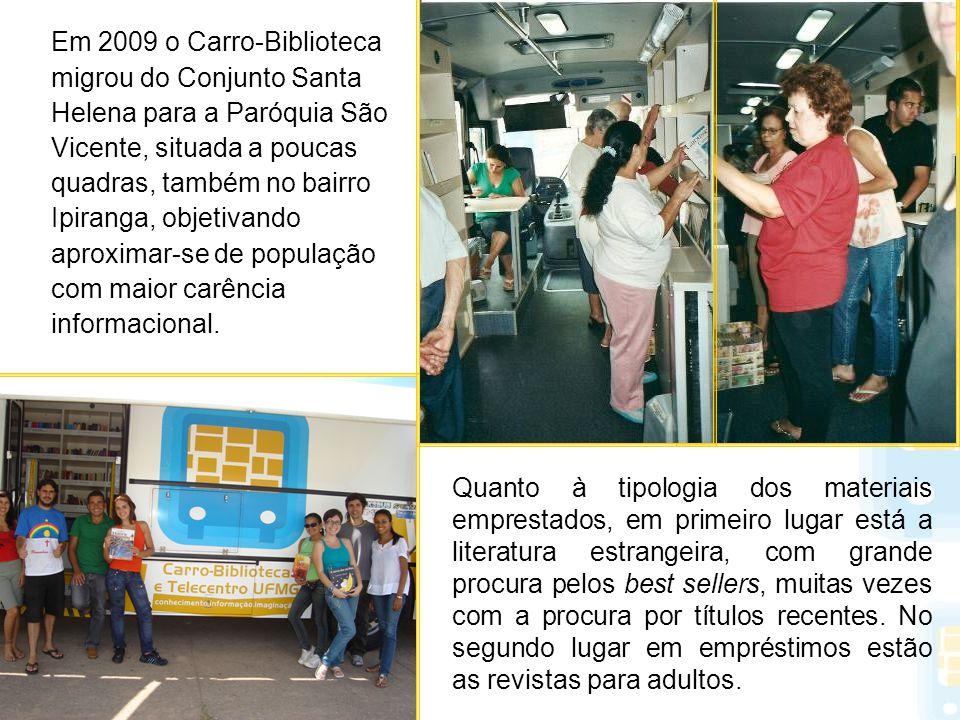 Em 2009 o Carro-Biblioteca migrou do Conjunto Santa Helena para a Paróquia São Vicente, situada a poucas quadras, também no bairro Ipiranga, objetivan
