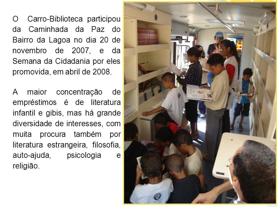O Carro-Biblioteca participou da Caminhada da Paz do Bairro da Lagoa no dia 20 de novembro de 2007, e da Semana da Cidadania por eles promovida, em ab