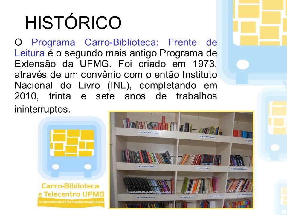 HISTÓRICO O Programa Carro-Biblioteca: Frente de Leitura é o segundo mais antigo Programa de Extensão da UFMG. Foi criado em 1973, através de um convê