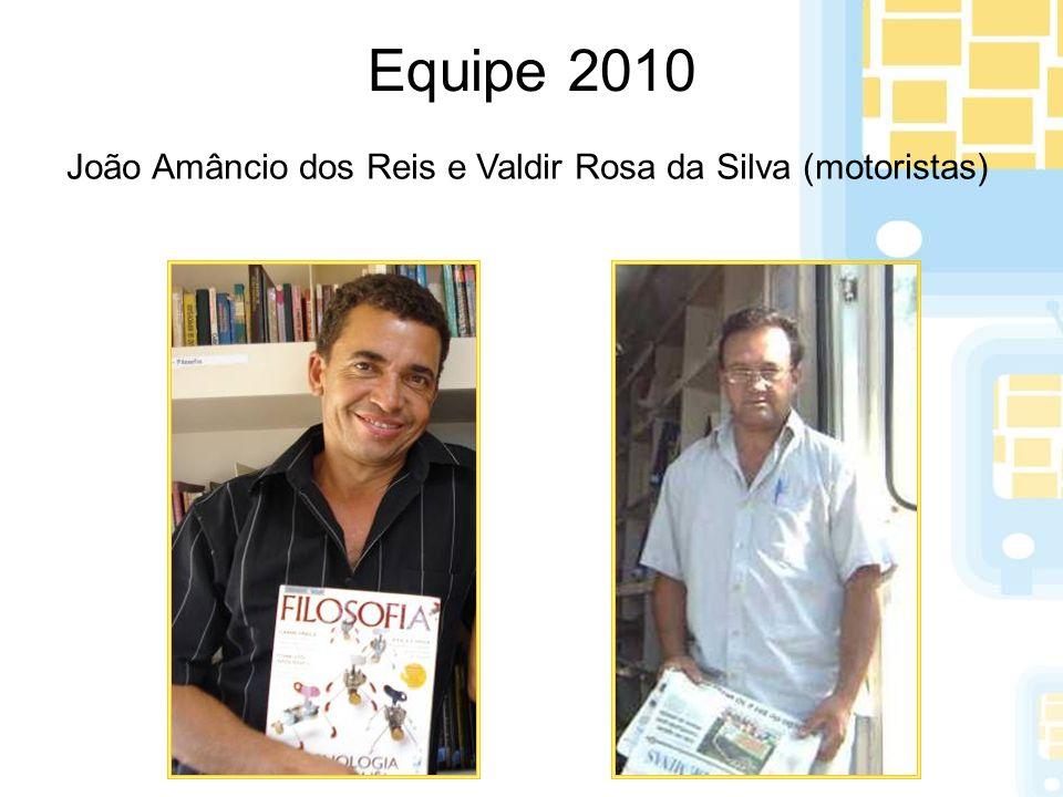 Equipe 2010 João Amâncio dos Reis e Valdir Rosa da Silva (motoristas)