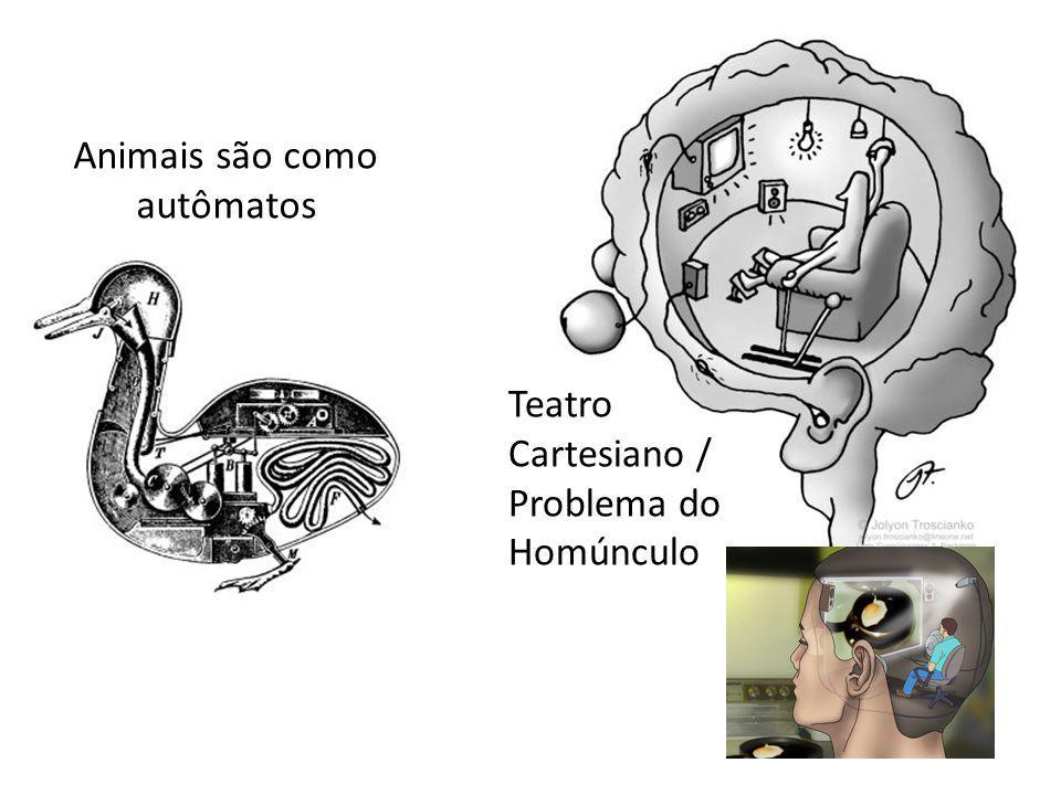 Animais são como autômatos Teatro Cartesiano / Problema do Homúnculo