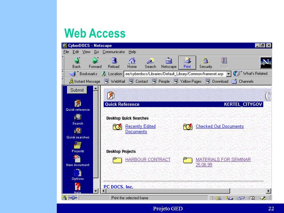 Projeto GED22 Web Access