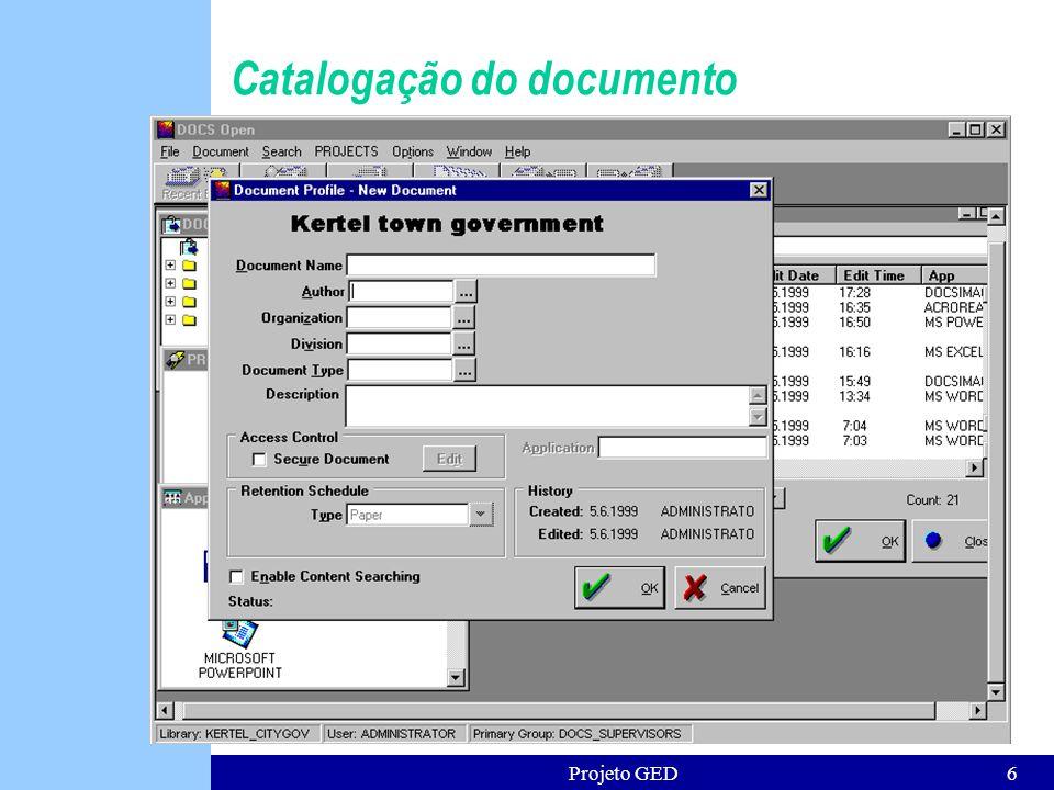 Projeto GED7 Controle de acesso aos documentos