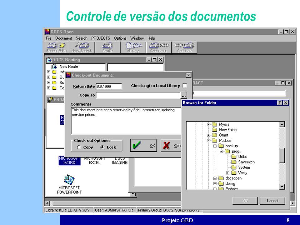 Projeto GED8 Controle de versão dos documentos