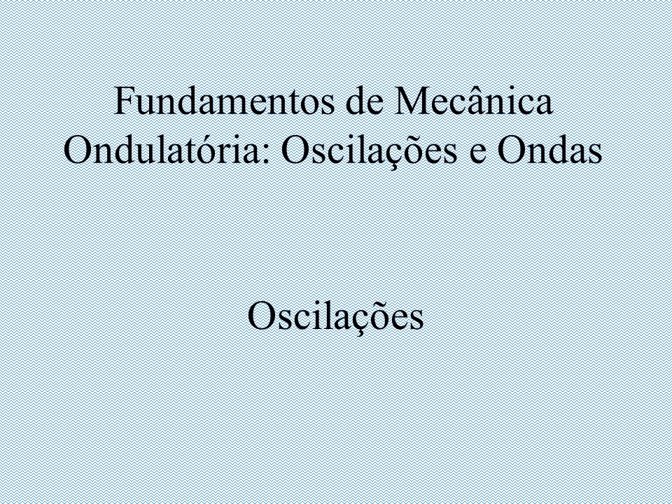 Fundamentos de Mecânica Ondulatória: Oscilações e Ondas Oscilações