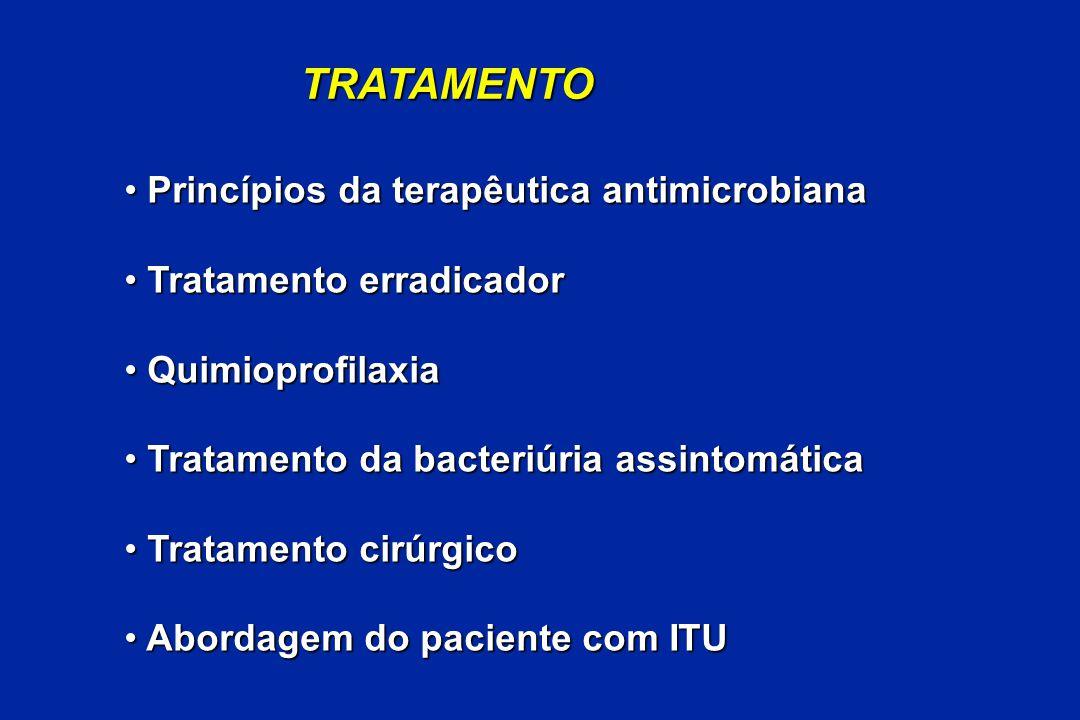 TRATAMENTO Princípios da terapêutica antimicrobiana Princípios da terapêutica antimicrobiana Tratamento erradicador Tratamento erradicador Quimioprofi