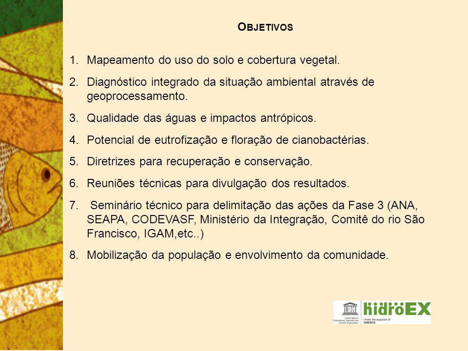 1.Mapeamento do uso do solo e cobertura vegetal.