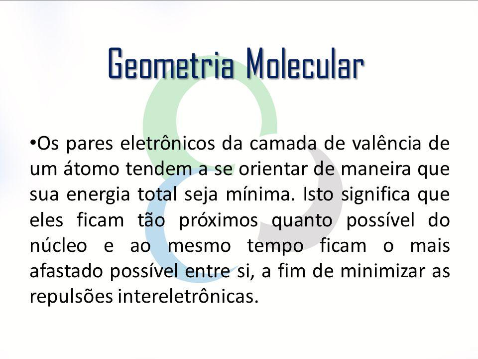 Os pares eletrônicos da camada de valência de um átomo tendem a se orientar de maneira que sua energia total seja mínima. Isto significa que eles fica