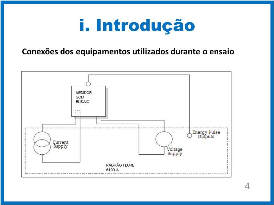 i. Introdução 4 Conexões dos equipamentos utilizados durante o ensaio