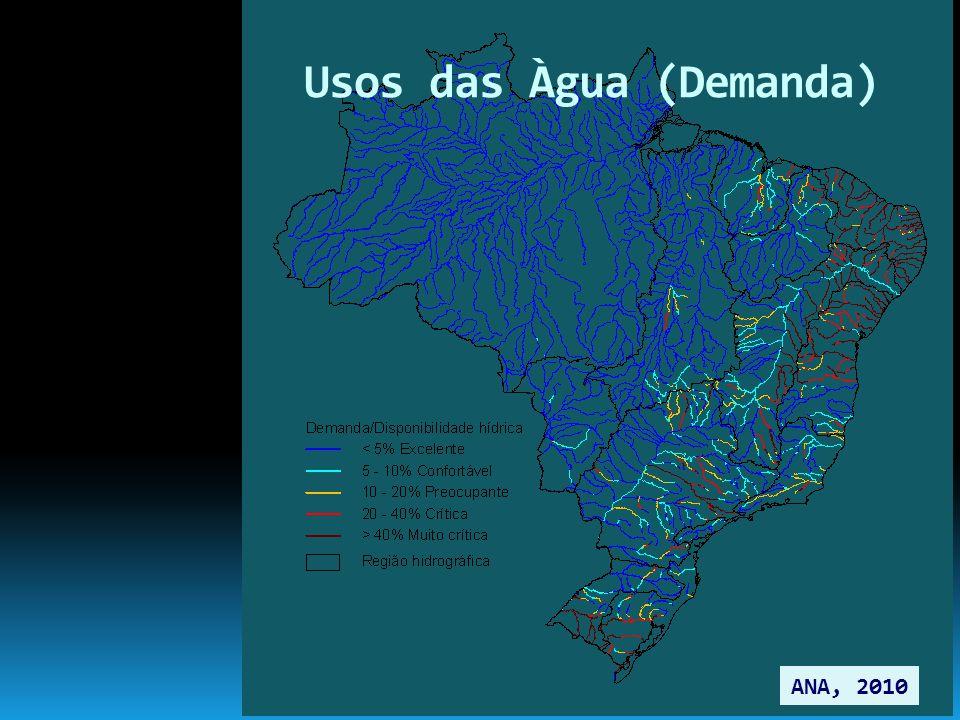 Usos das Àgua (Demanda) ANA, 2010