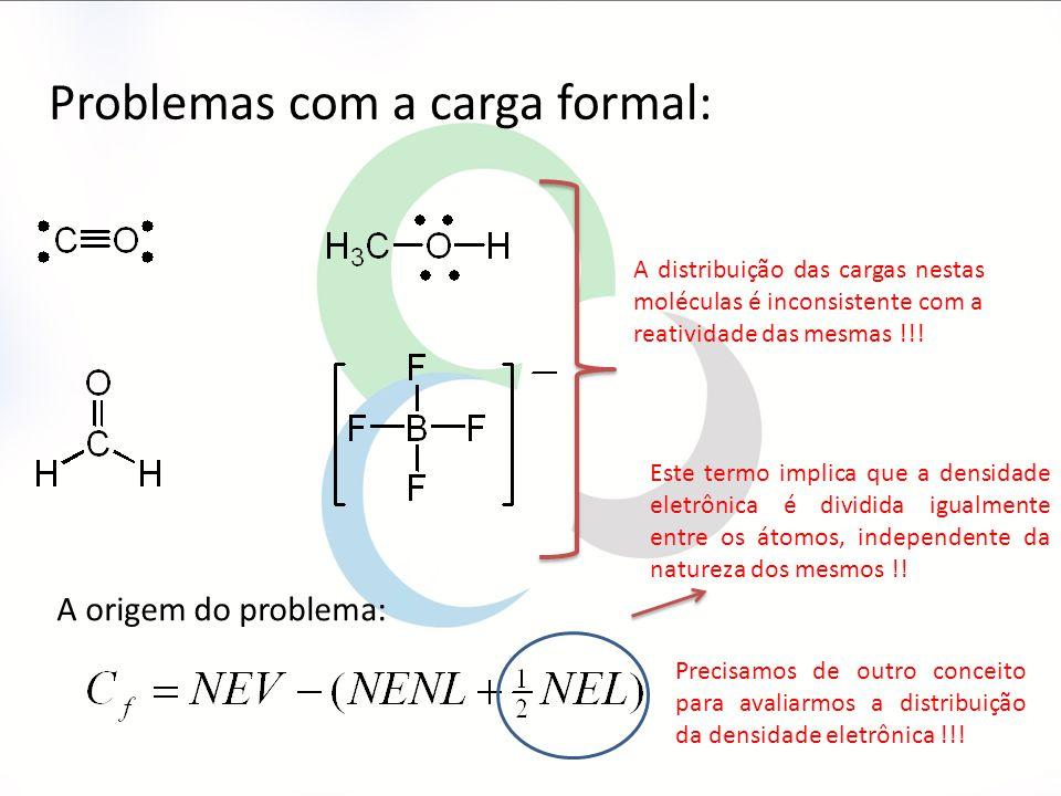 A distribuição das cargas nestas moléculas é inconsistente com a reatividade das mesmas !!.