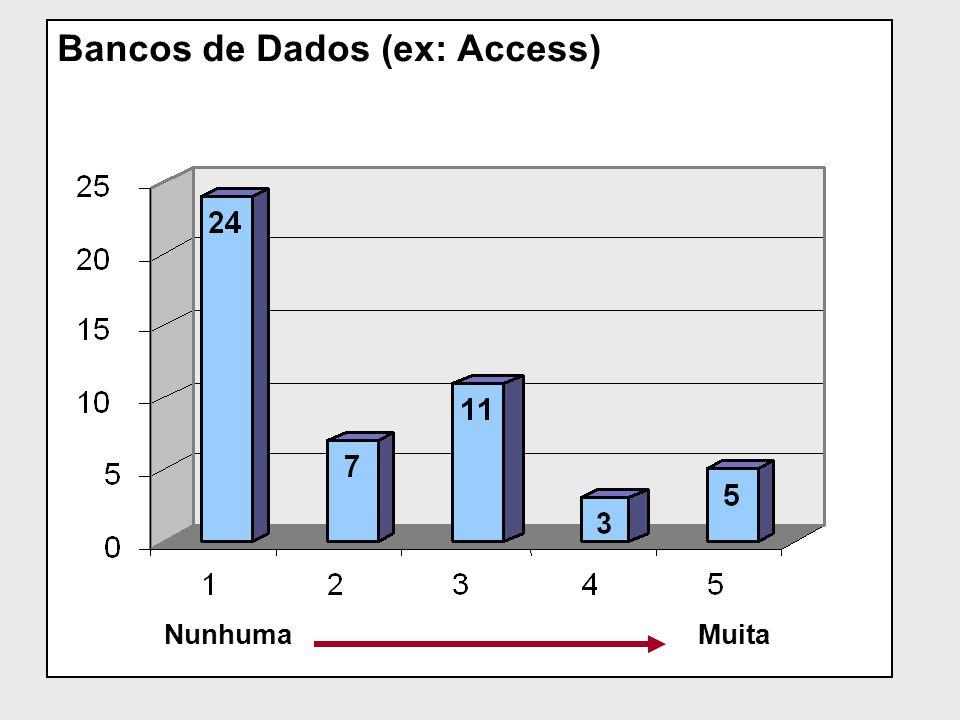 Bancos de Dados (ex: Access) NunhumaMuita