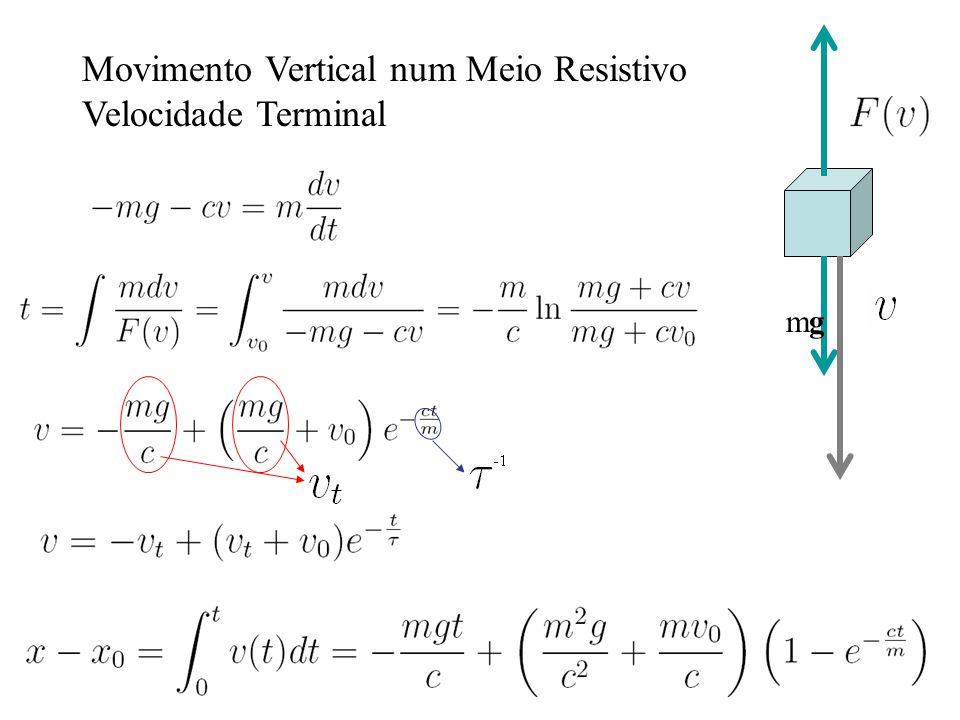 Movimento Vertical num Meio Resistivo Velocidade Terminal mgmg