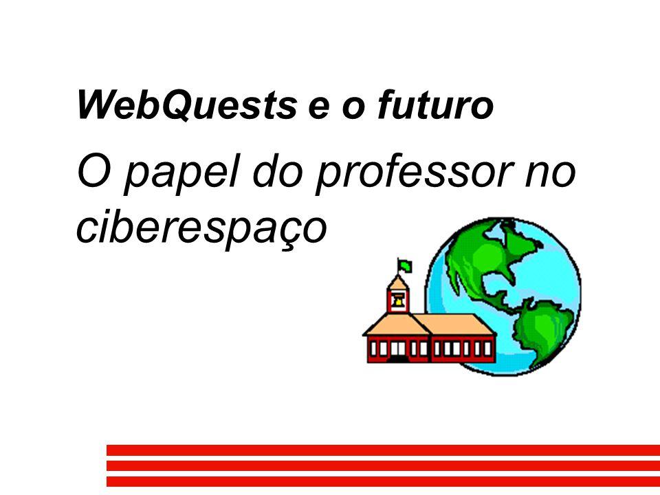 WebQuests e o futuro O papel do professor no ciberespaço