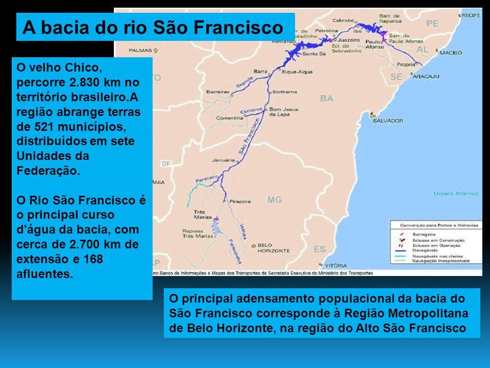O velho Chico, percorre 2.830 km no território brasileiro.A região abrange terras de 521 municípios, distribuídos em sete Unidades da Federação. O Rio