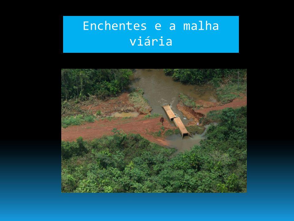 Enchentes e a malha viária