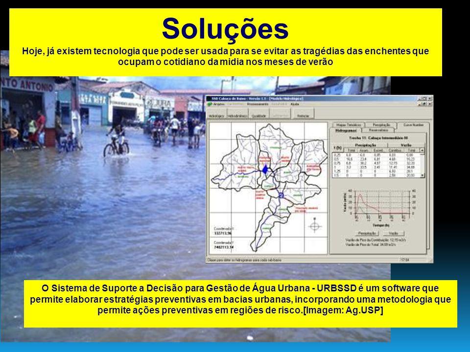O Sistema de Suporte a Decisão para Gestão de Água Urbana - URBSSD é um software que permite elaborar estratégias preventivas em bacias urbanas, incor