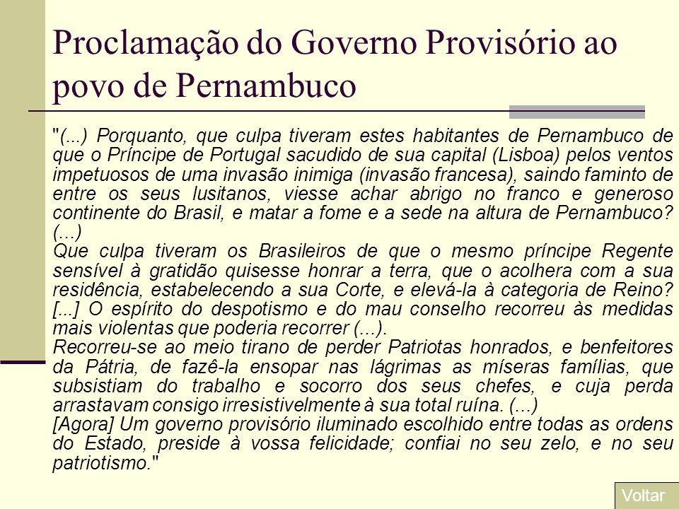 Proclamação do Governo Provisório ao povo de Pernambuco