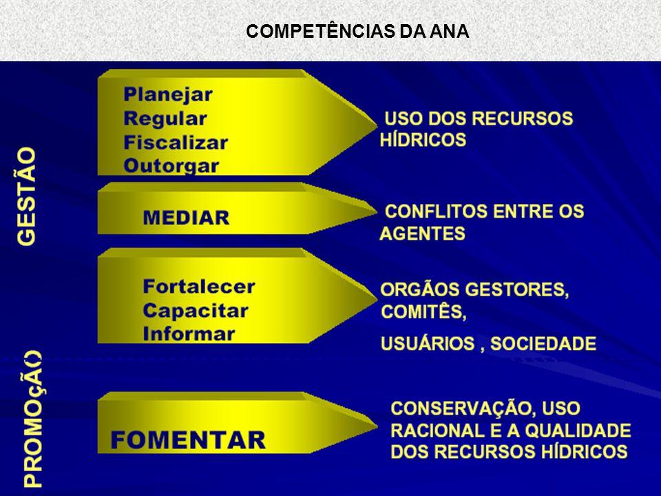 PRINCIPAIS DESAFIOS PARA GESTÃO NO BRASIL Norte: maior disponibilidade de água menor concentração de população Nordeste: escassez de água e pobreza Sul e Sudeste: poluição urbana e industrial Centro Oeste: agricultura intensiva