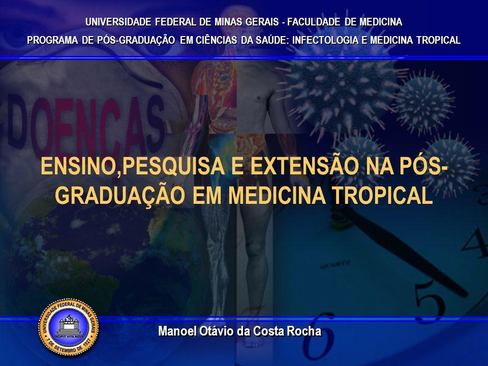 UNIVERSIDADE FEDERAL DE MINAS GERAIS - FACULDADE DE MEDICINA PROGRAMA DE PÓS-GRADUAÇÃO EM CIÊNCIAS DA SAÚDE: INFECTOLOGIA E MEDICINA TROPICAL UNIVERSIDADE FEDERAL DE MINAS GERAIS - FACULDADE DE MEDICINA PROGRAMA DE PÓS-GRADUAÇÃO EM CIÊNCIAS DA SAÚDE: INFECTOLOGIA E MEDICINA TROPICAL ENSINO,PESQUISA E EXTENSÃO NA PÓS- GRADUAÇÃO EM MEDICINA TROPICAL Manoel Otávio da Costa Rocha